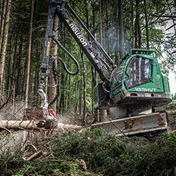 Holzernte Harvester - Glück forstservice Gmbh Salzburg
